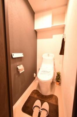 【トイレ】仲介手数料無料■大島スカイハイツ  角部屋 専用庭付 リノベーション済