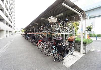 ベイサイドステージ東京の駐輪場です。