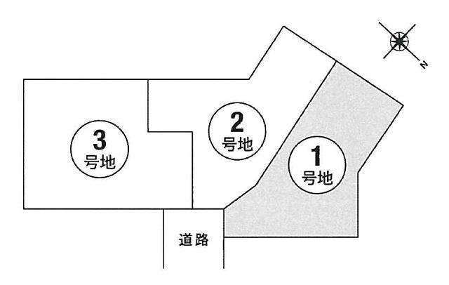 【区画図】本町3丁目1号地建築条件無売地
