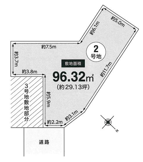 【土地図】本町3丁目2号地建築条件無売地