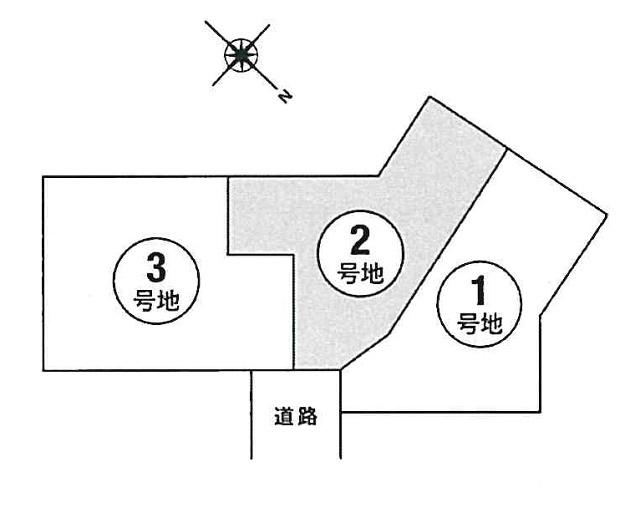 【区画図】本町3丁目2号地建築条件無売地