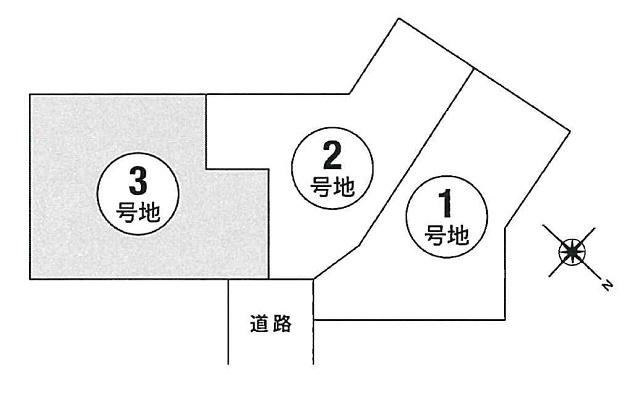 【区画図】本町3丁目3号地建築条件無売地
