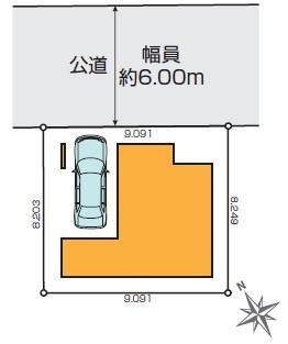 【区画図】練馬区北町1丁目 新築戸建 7390万円