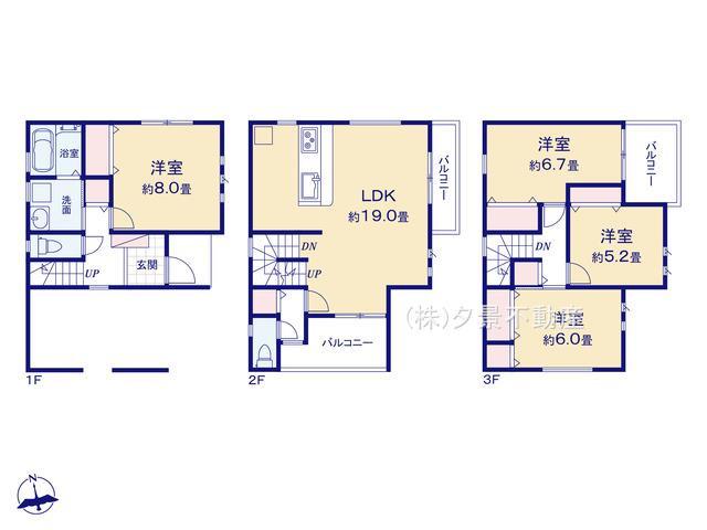 【区画図】浦和区領家7丁目78-6全1戸新築一戸建てファーストタウン