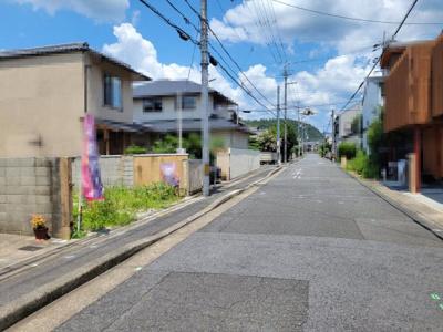 【前面道路含む現地写真】左京区一乗寺青城町 建築条件付 売土地