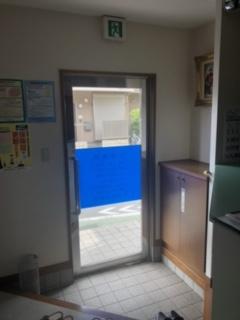 待合室入り口 玄関