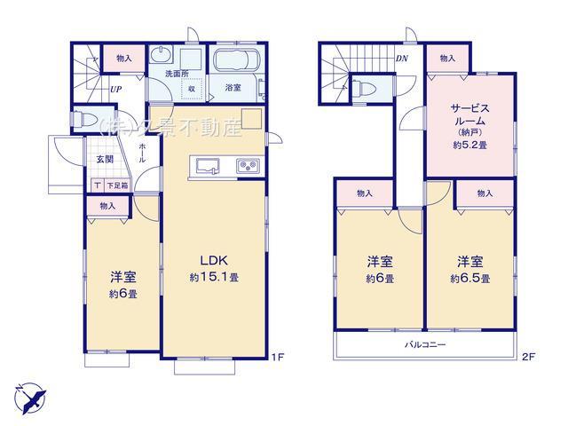 【区画図】南区大字太田窪2717(C号棟)新築一戸建て