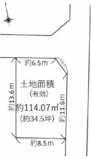 【土地図】尼崎市富松町 売土地