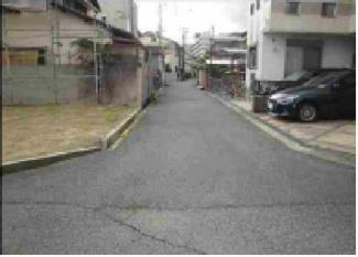【前面道路含む現地写真】尼崎市富松町 売土地