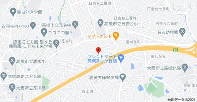 【地図】波多野ハイツB棟 スモッティー阪急高槻店