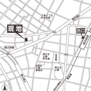 【地図】ガーデンコート下馬