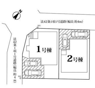 【区画図】西区佐知川新築戸建~高台分譲地