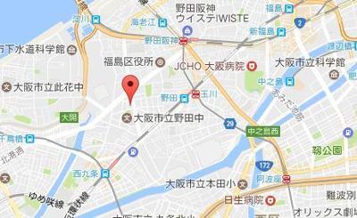 【地図】ダブルスタイル福島Ⅱウィステリア