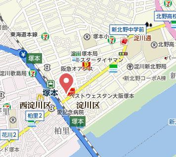 【地図】CASSIA TSUKAMOTO