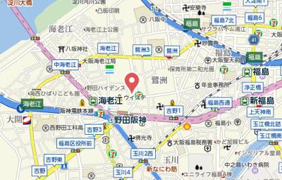 【地図】シナジーコート野田阪神