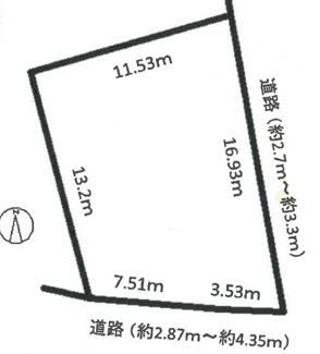 【区画図】57164 各務原市那加桜町土地