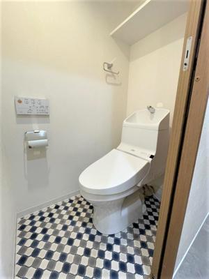 【トイレ】❖高台 最上階♪3方角部屋☆内装フルリノベーション済☆中銀徳丸マンシオン❖