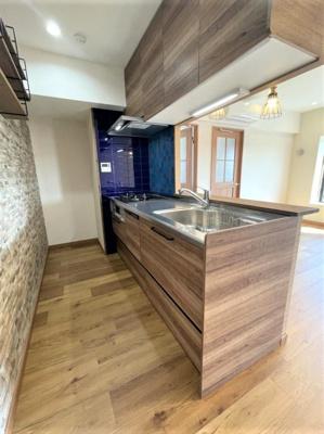 【キッチン】❖高台 最上階♪3方角部屋☆内装フルリノベーション済☆中銀徳丸マンシオン❖