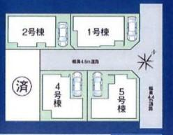 【区画図】浜甲子園2丁目1号地 新築戸建