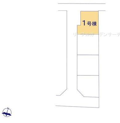 【区画図】リーブルガーデンS長浜市第7南田附町