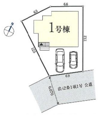【区画図】所沢市小手指南1丁目 全1棟