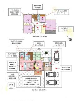 駐車スペース3台分(車種によります)