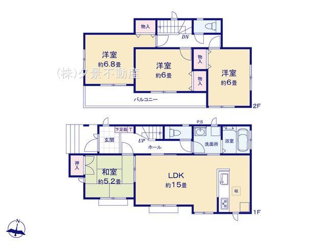【区画図】大宮区三橋1丁目255-1(G号棟)新築一戸建てハートフルタウン
