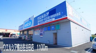ウエルシア熊谷佐谷田店まで1100m