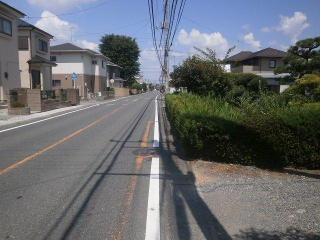 【前面道路含む現地写真】深谷市東方 5000万 土地