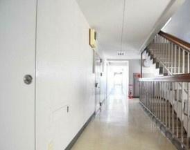 大橋団地久保ビルの共有廊下です。