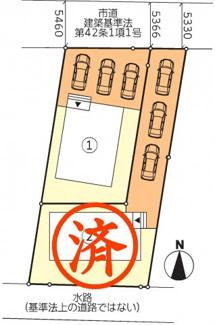 【区画図】郡山市大槻町針生前田新築一戸建て2棟