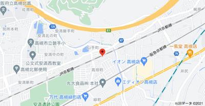 【地図】えくれーる高槻Ⅱ
