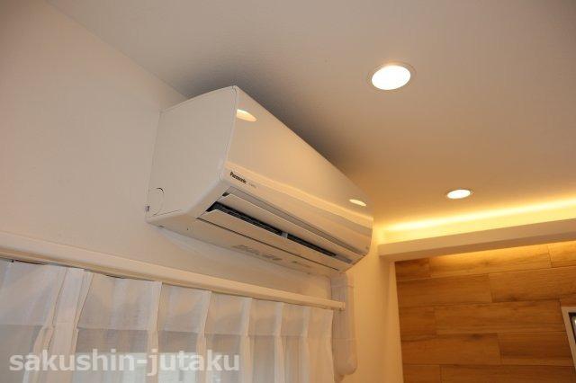 空気洗浄機能付きエアコン新設