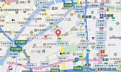 【地図】レジディア江戸堀