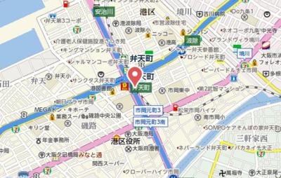 【地図】メトローサ弁天町