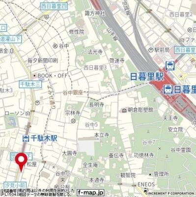 【地図】メゾン・ド・ヴィレ千駄木