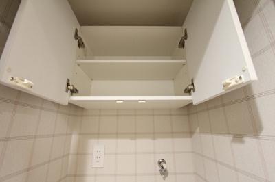洗濯機置き場の収納