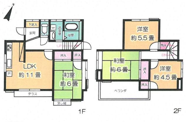 土地面積102.84平米、建物面積79.49平米~JR高崎線「鴻巣」徒歩27分、鴻巣」駅バス8分停歩7分の立地