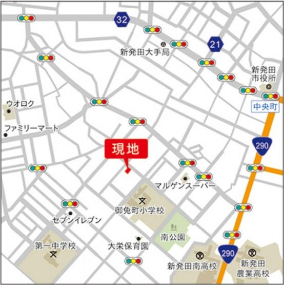 【地図】【新築】テイラーハウス大栄町4丁目建売
