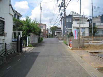 前面道路含む現地写真です A~G西側接道