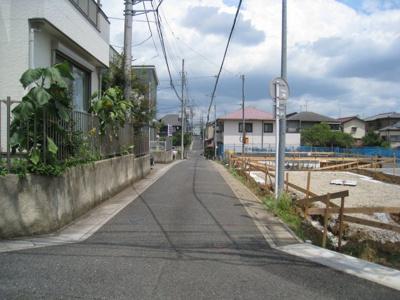 前面道路含む現地写真です A~C北側接道