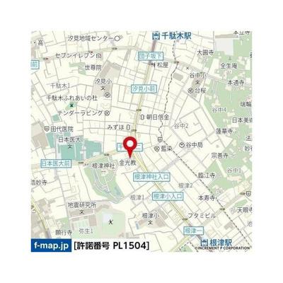 【地図】モンシェール根津