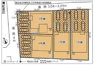 【区画図】沼津市今沢 3期 新築一戸建て 3号棟 AN