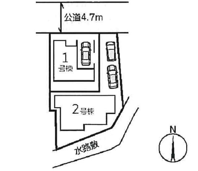 【区画図】曽根南町3丁目2号棟新築戸建