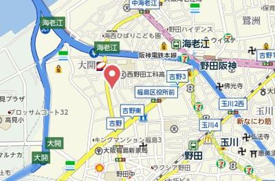 【地図】嵜本レジデンス福島