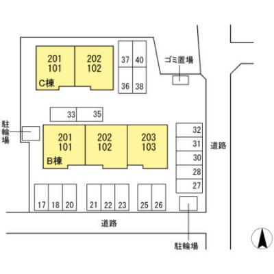 【区画図】ソシアドミール B棟
