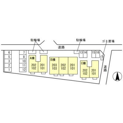 【区画図】プリウス大曽根 C