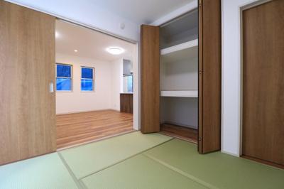 和室はお子様が遊んだり、お昼寝の場としてはもちろん、客間としても活用できます。