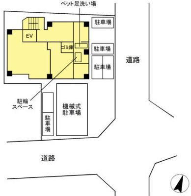 【区画図】D-room泊