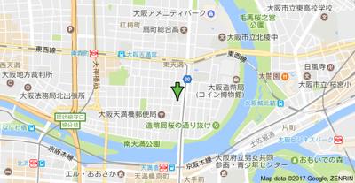 【地図】フェニックスコート天満橋